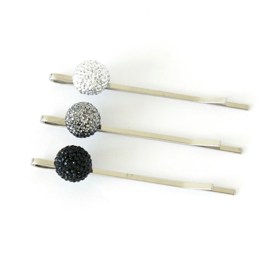 Bask in the Glow Stud Earrings  by MoonRox Jewellery & Accessories - Hair Pins shown to indicate 3 colours