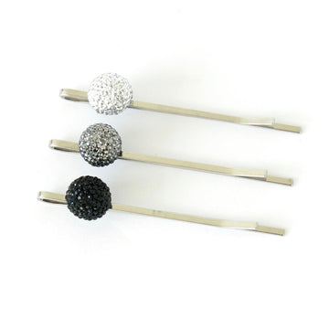 Bask in the Glow Hair Pins by MoonRox Jewellery & Accessories - three available colour options include silver, pewter, black