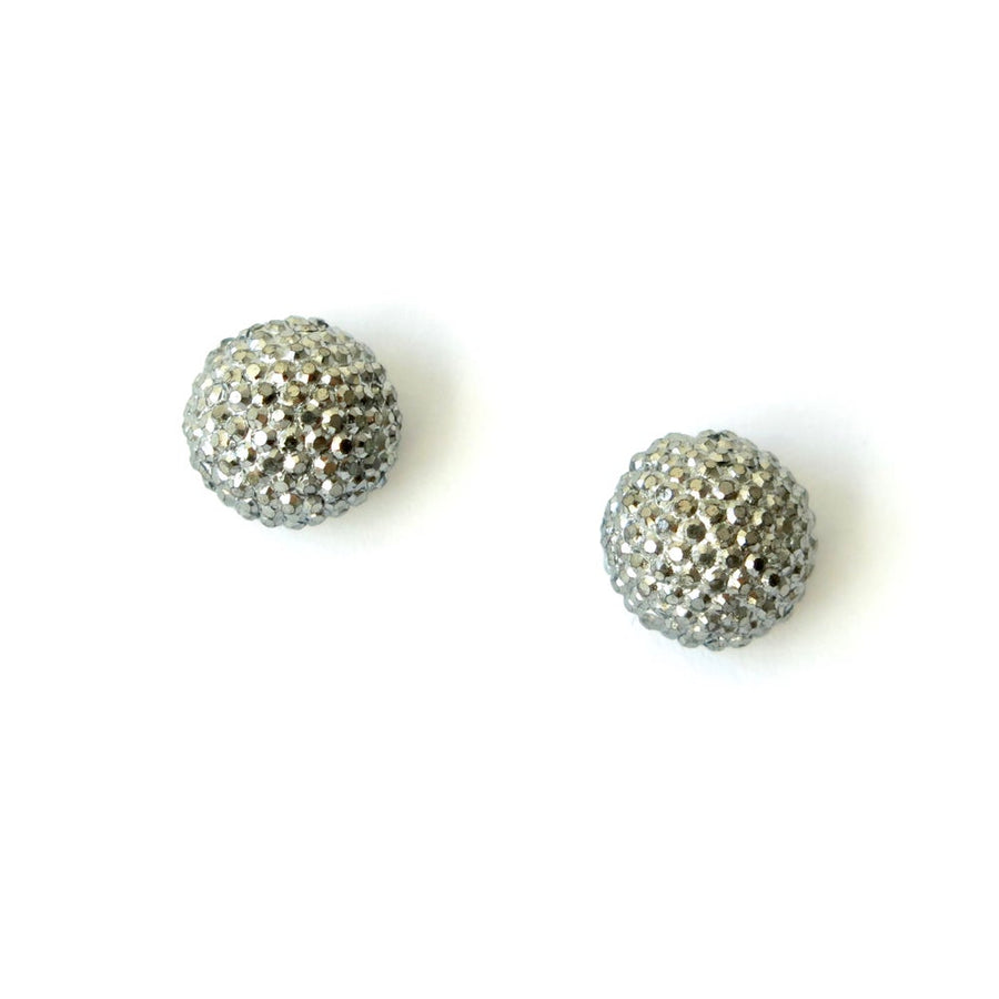 Bask in the Glow Stud Earrings by MoonRox Jewellery & Accessories feature micro faceted texture