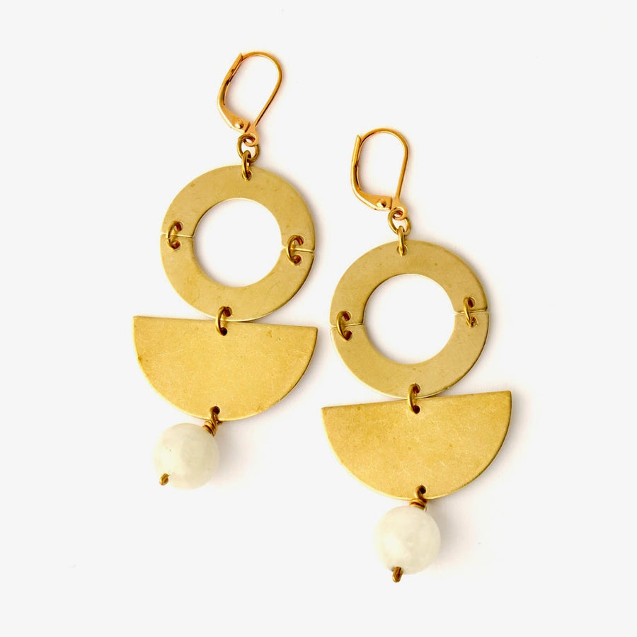 Berg Earrings by MoonRox Jewellery & Accessories - modern geometric dangly earrings inspired by MasterChef Canada Winner Mary Berg