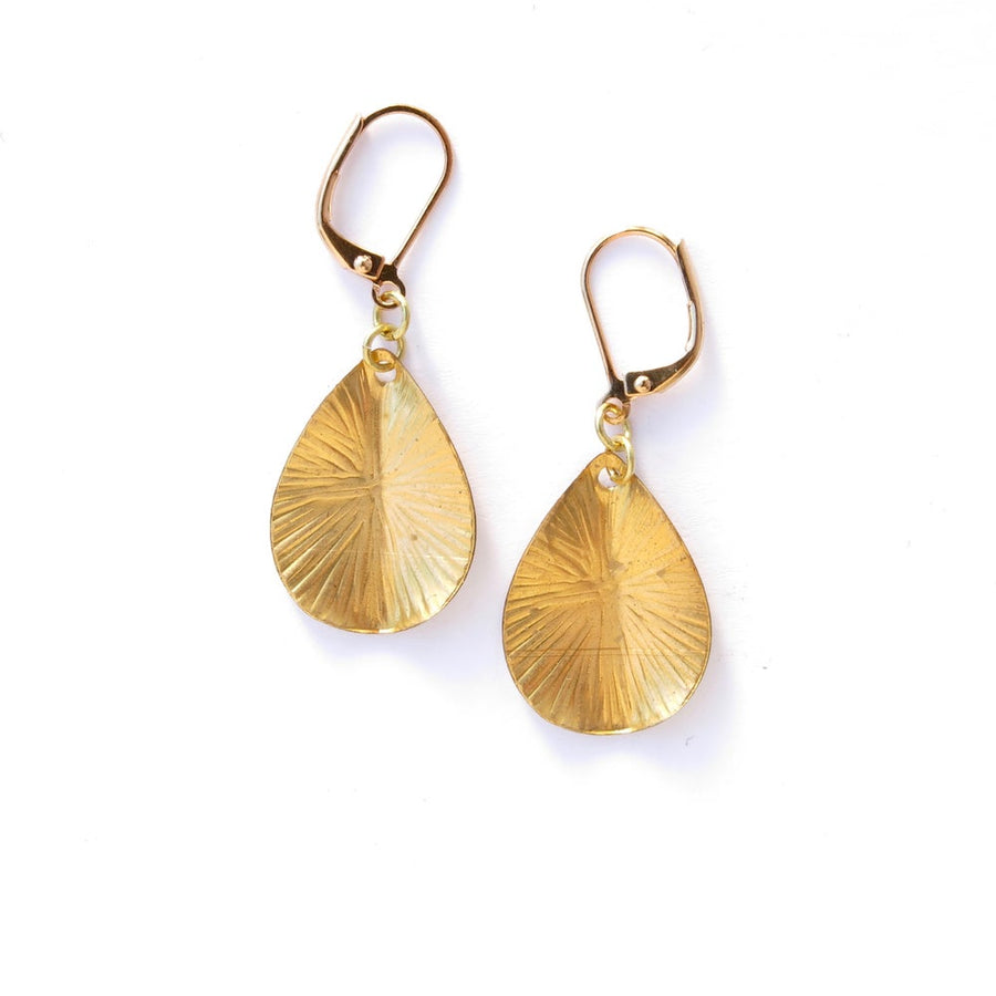 Blast Earrings by MoonRox Jewellery & Accessories - Drop shaped earrings with radiating etched pattern