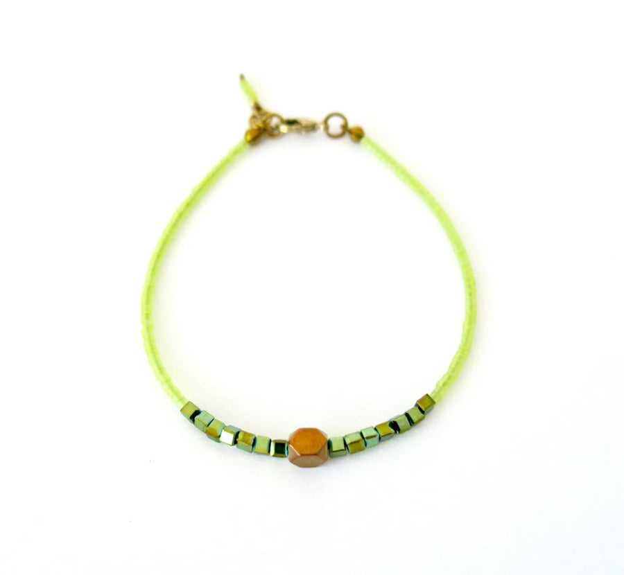 Breezy Bracelet by MoonRox Jewellery & Accessories - delicate beaded green bracelet