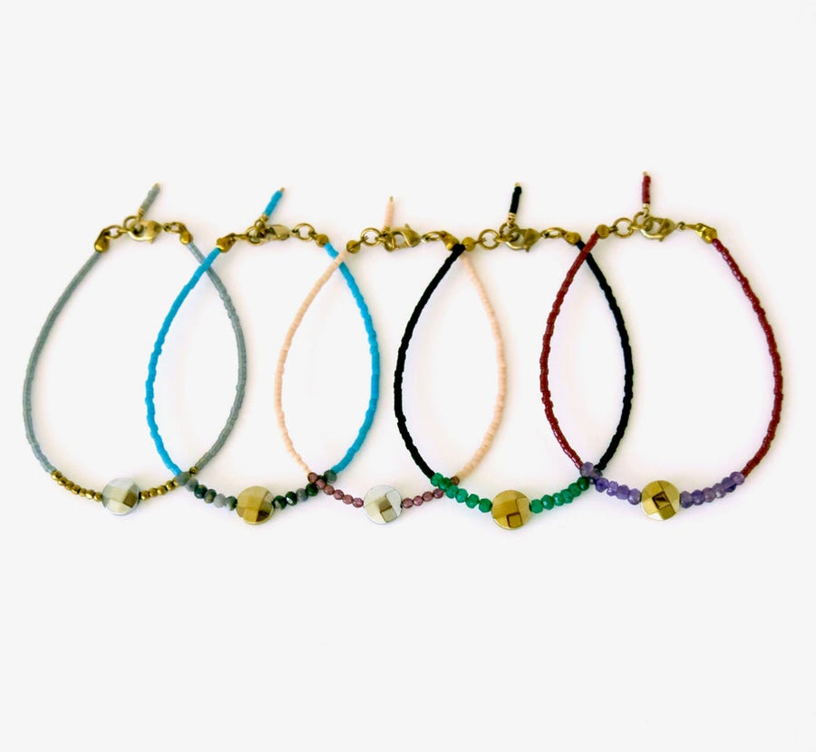 Darling Bracelet by MoonRox Jewellery & Accessories - Choose from 5 colour options of delicate Japanese glass beads and semi-precious stones