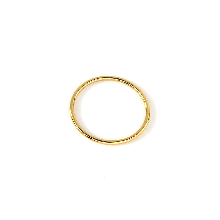 Fine Line Ring is a simple thin gold plated sterling silver band.