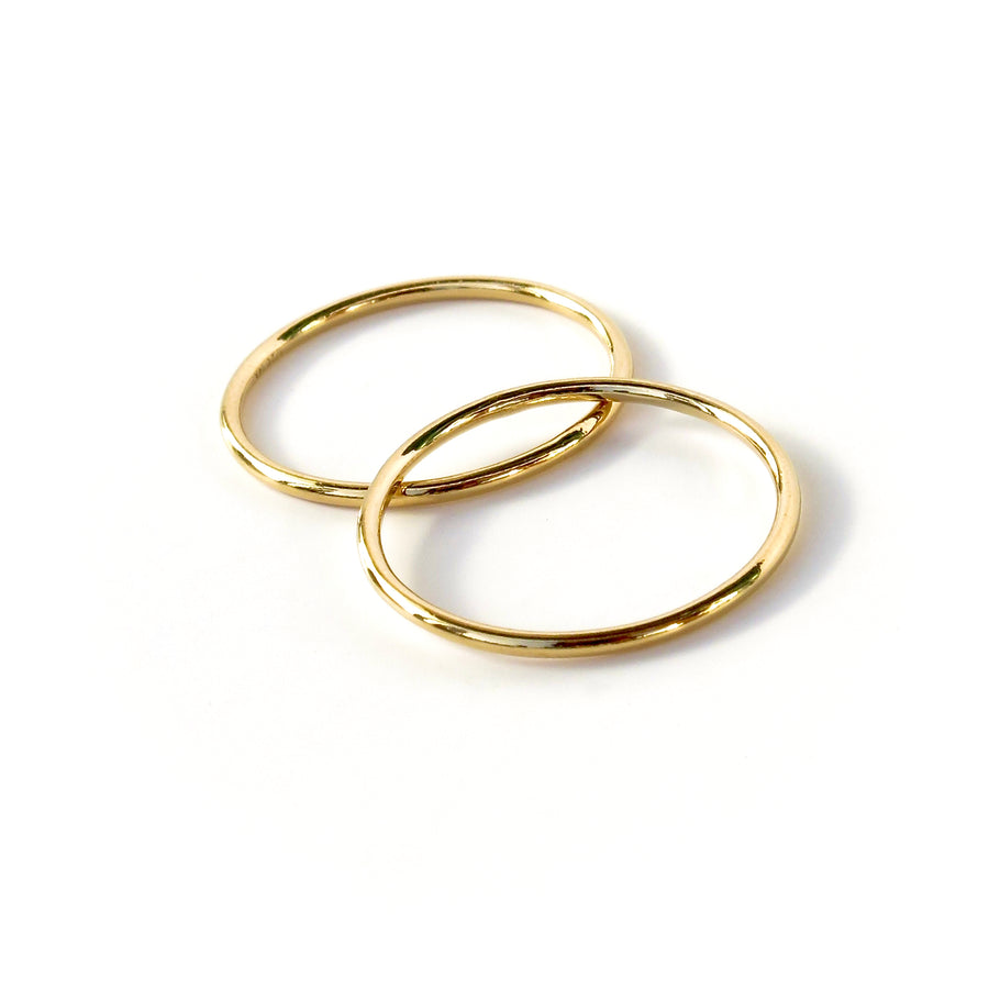 Fine Line Ring is a simple thin gold plated sterling silver band. These very skinny linear rings look good solo as well as stacked with other rings.