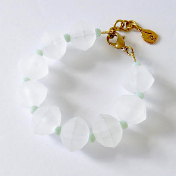 Glacé Bracelet by MoonRox Jewellery & Accessories - chunky bracelet with frosted acrylic beads and pastel coloured crystals.