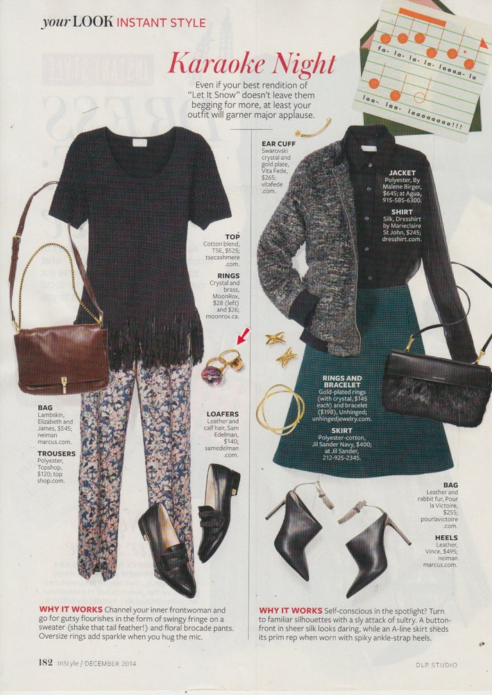Crystal Bauble Ring by MoonRox Jewellery & Accessories as seen in InStyle Magazine
