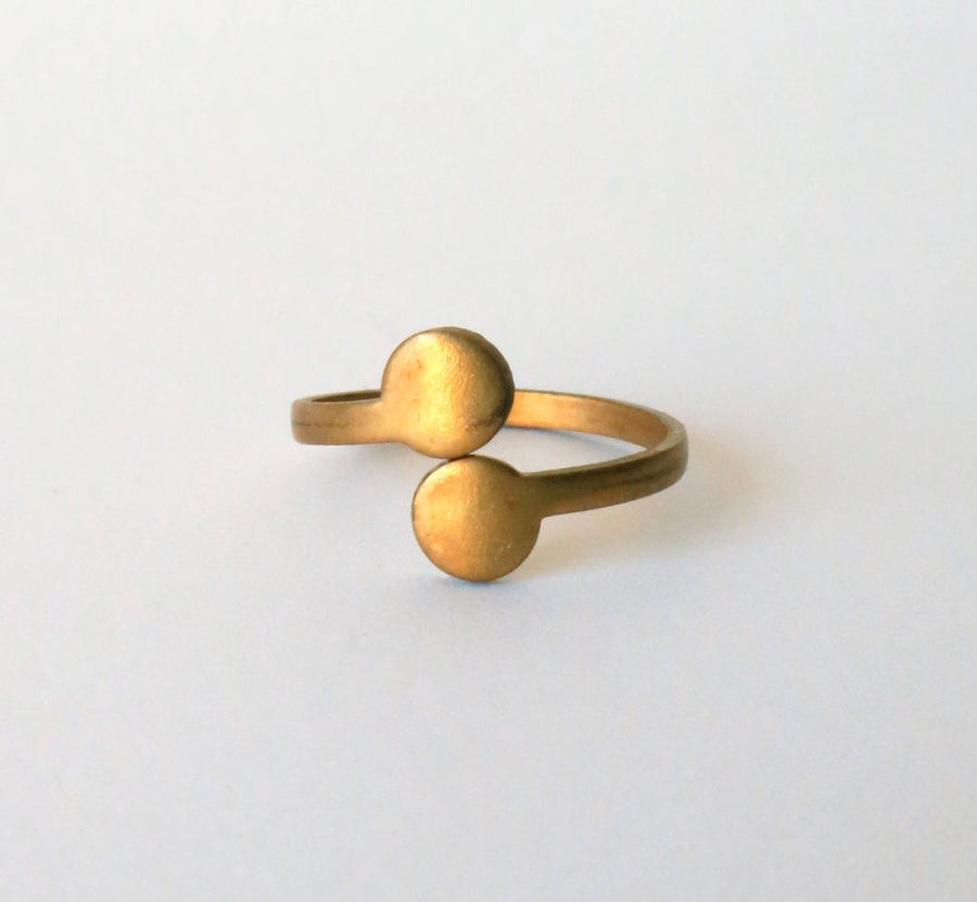 Arc Ring from MoonRox Jewellery & Accessories - vintage brass ring which is adjustable in size