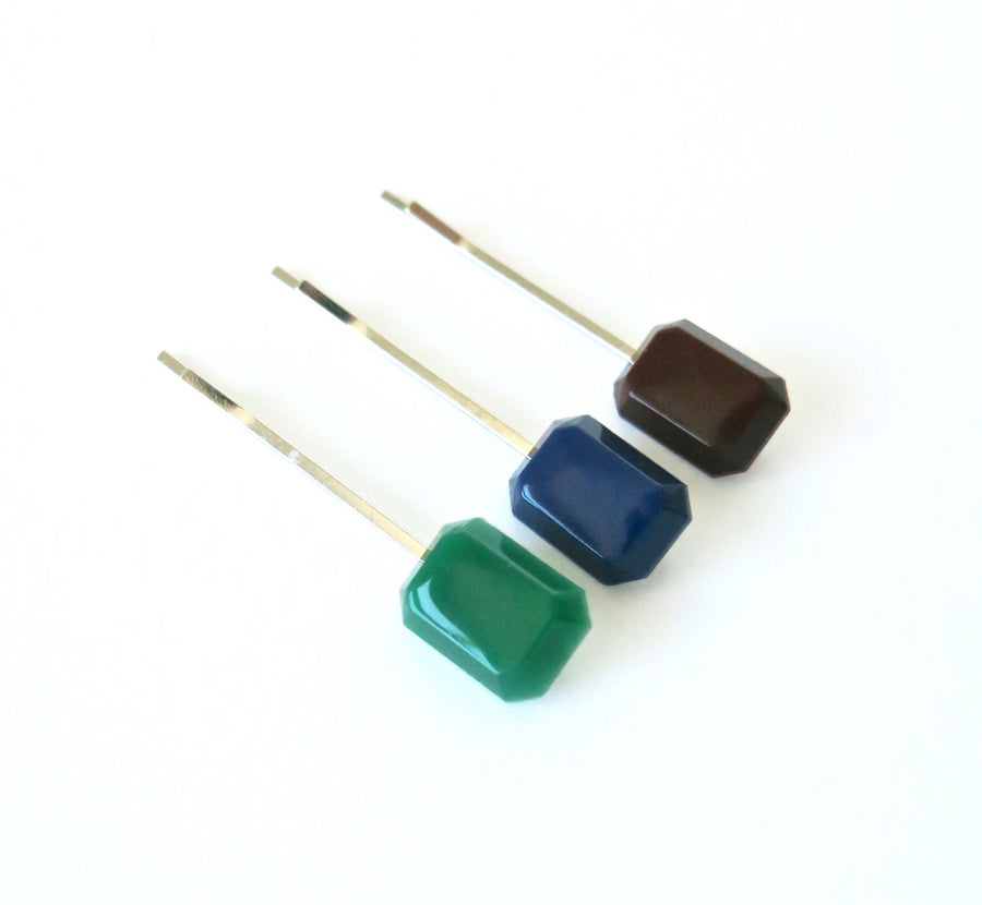 Jewel Tone Stud Earrings by MoonRox - garnet colour vintage cabochons on surgical steel posts.