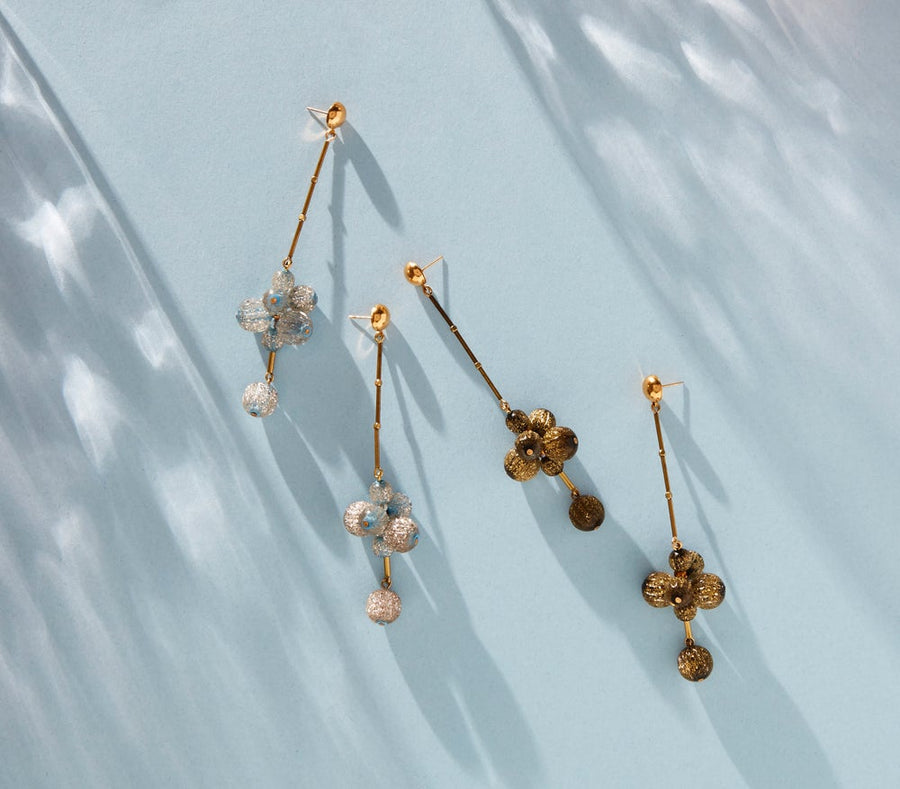 Let's Groove Stud Earrings by MoonRox in gold and silver.