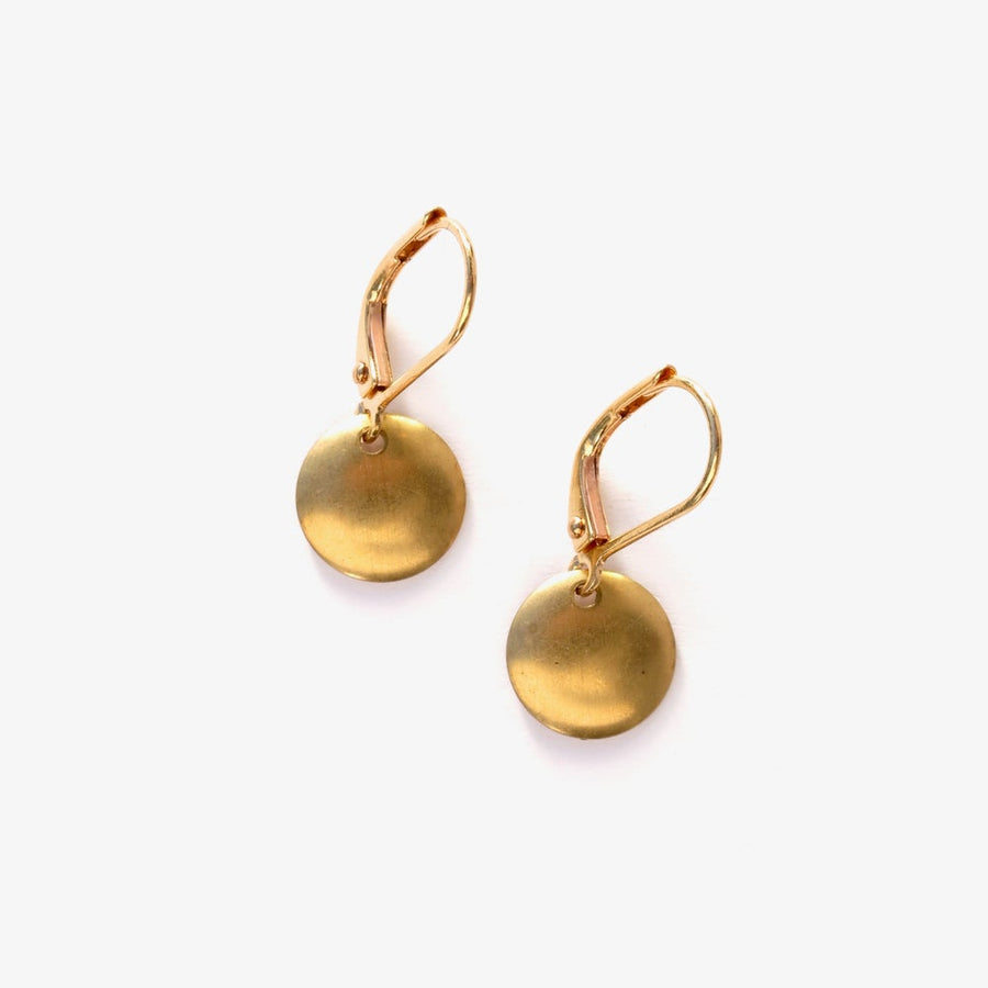 Lil Disc Earrings by MoonRox are small slightly convex circles that are great for every day.
