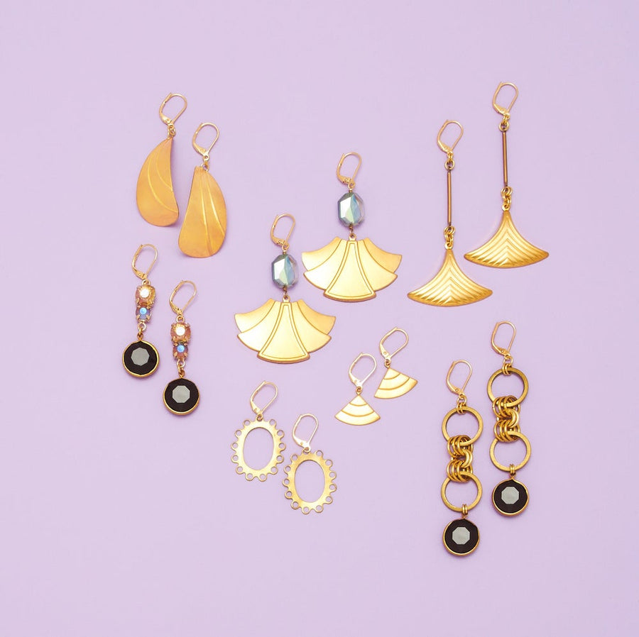A variety of earrings including Fin Earrings by MoonRox Jewellery & Accessories