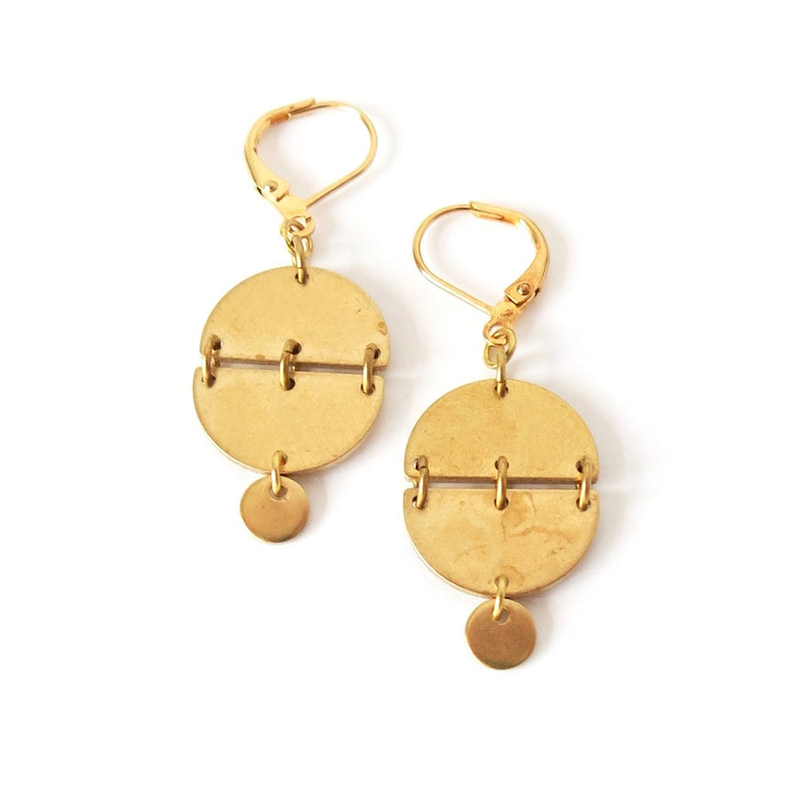 Rise Up Earrings are geometric modern and trendy dangly earrings.
