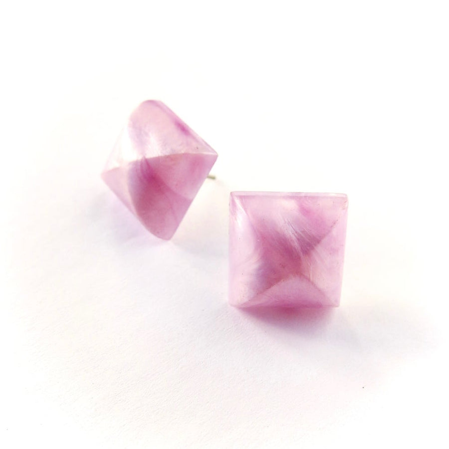 Scintillate Stud Earrings are vintage lucite jewel stud earrings available in a multitude of colours.