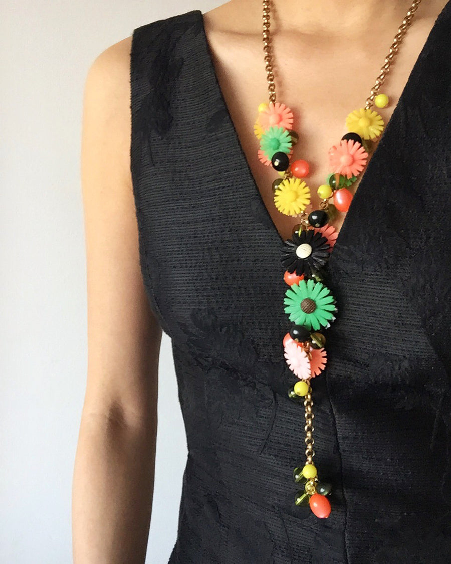 Sicilian Bouquet Necklace by MoonRox is a fun floral Y-style chain lariat.