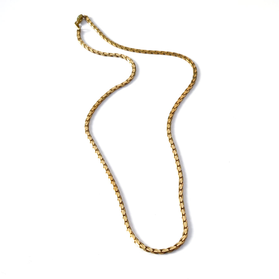 Winding River Chain Necklace is a classic vintage brass necklace.