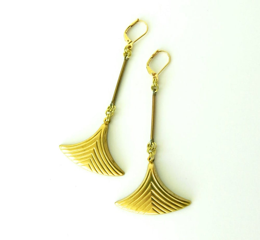 Fin Earrings by MoonRox Jewellery & Accessories - long earrings with fin-like charms