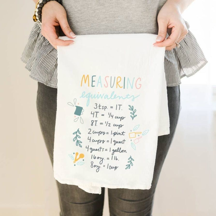 Measuring Equivalents Tea Towel