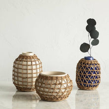 Load image into Gallery viewer, Rattan Vase