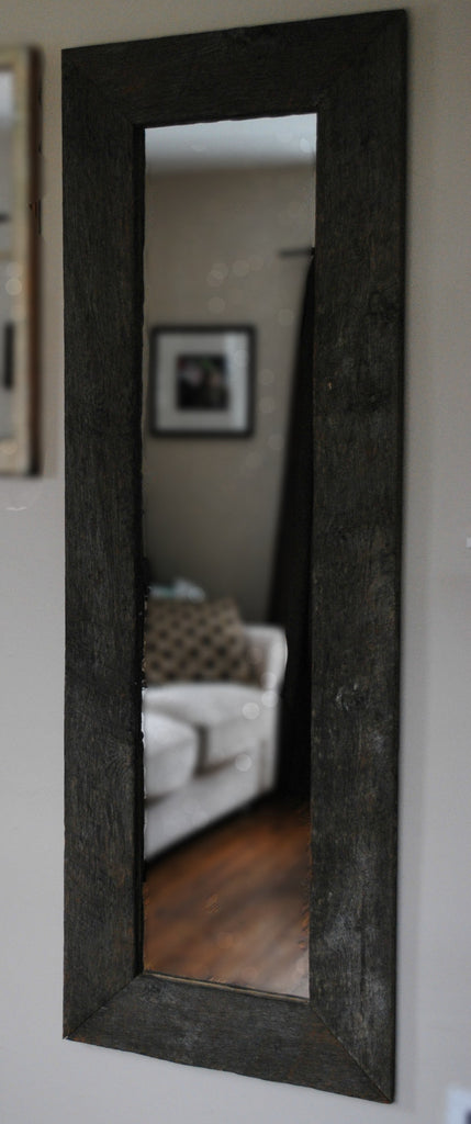 Full Length Mirror Framed with Reclaimed Horse Fence Wood
