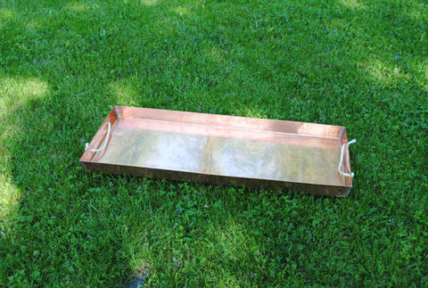 "Copper Planter Tray 36"" x 14"" x 2"""