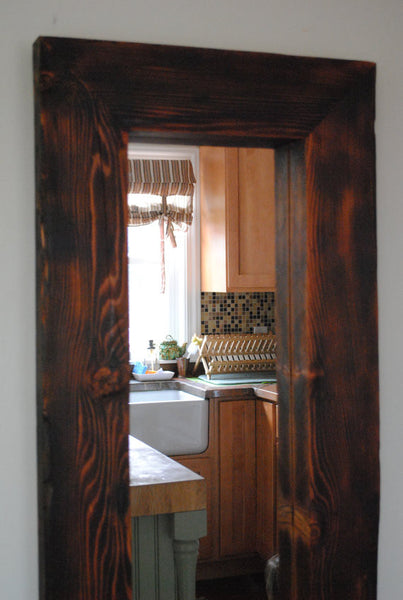 Full Length Mirror Framed In Reclaimed Wood Reclaimed State
