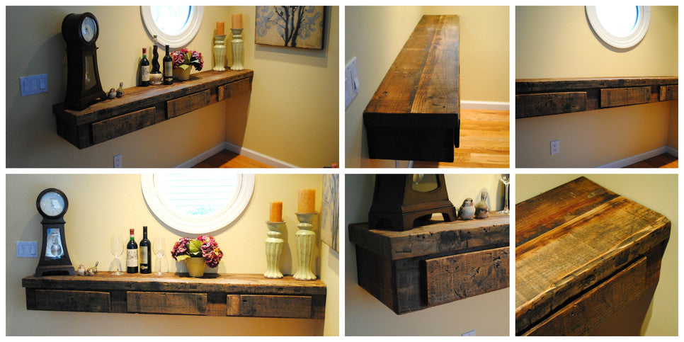 Custom Shelf with 3 Drawers