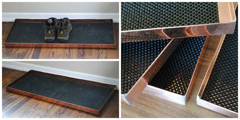 Custom Copper Boot Tray