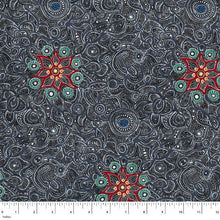 Load image into Gallery viewer, Australian Aboriginal quilting cotton, Yallaroo, Ash, M and S Textiles