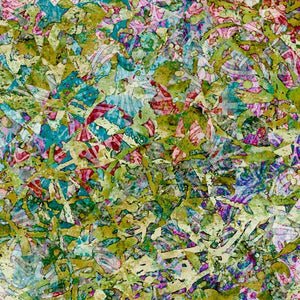 "Illuminations, Evolution, Olive by Dan Morris - SCALE= 6"" picture - 100% cotton quilting fabric"