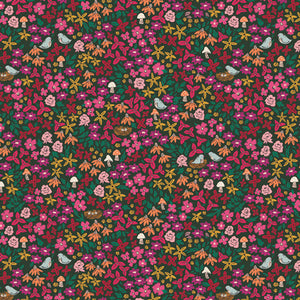 "Art Gallery Fabric, The Flower Society, Striking Garenista, photo = 8"" square - 100% cotton quilting fabric"