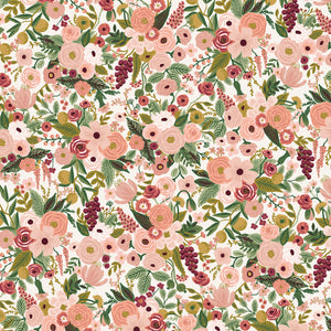 Rifle Paper Co., Garden Party, Petite Garden Party, Rose - Cotton and Steel - 100% cotton quilting fabric