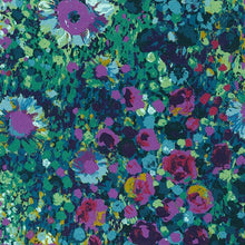 "Load image into Gallery viewer, Painterly Petals, Navy, SCALE= 6"" photo, Robert Kaufman - 100% cotton quilting fabric"
