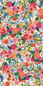 Rifle Paper Co., Wildwood, Garden Party, Cream ,1-2 inch flowers, Cotton and Steel - 100% cotton quilting fabric