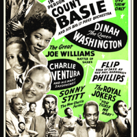 Count Basie Big Band Concert Poster Fridge Magnet 6x8 Large