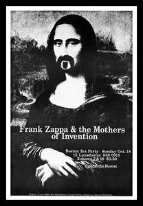 Frank Zappa Concert Poster Live in Boston Fridge Magnet 6x8 Large