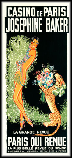 Josephine Baker Casino de Paris Grand Revue Poster Fridge Magnet