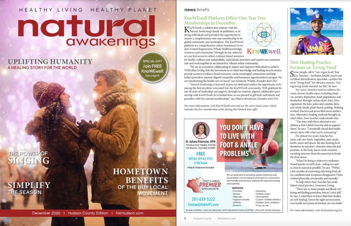 My Feature in Natural Awakenings Magazine (Hudson County, NJ - December 2020)