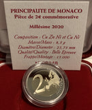 2€ 2020 Monaco Honoré III Proof