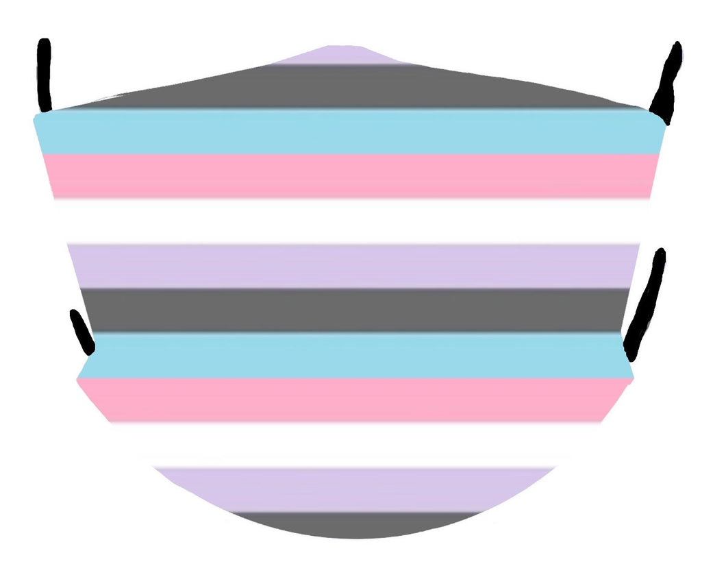 Genderfluid Pride Flag Mask (Light)