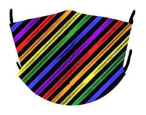 Black & Rainbow Marker Mask
