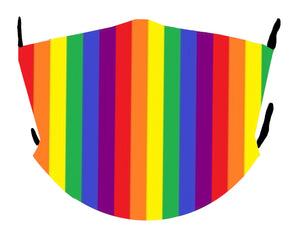 Rainbow Pride Vertical Stripes Mask
