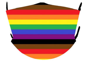 rainbow pride stripe Philly mask