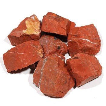 Rough red jasper from Africa