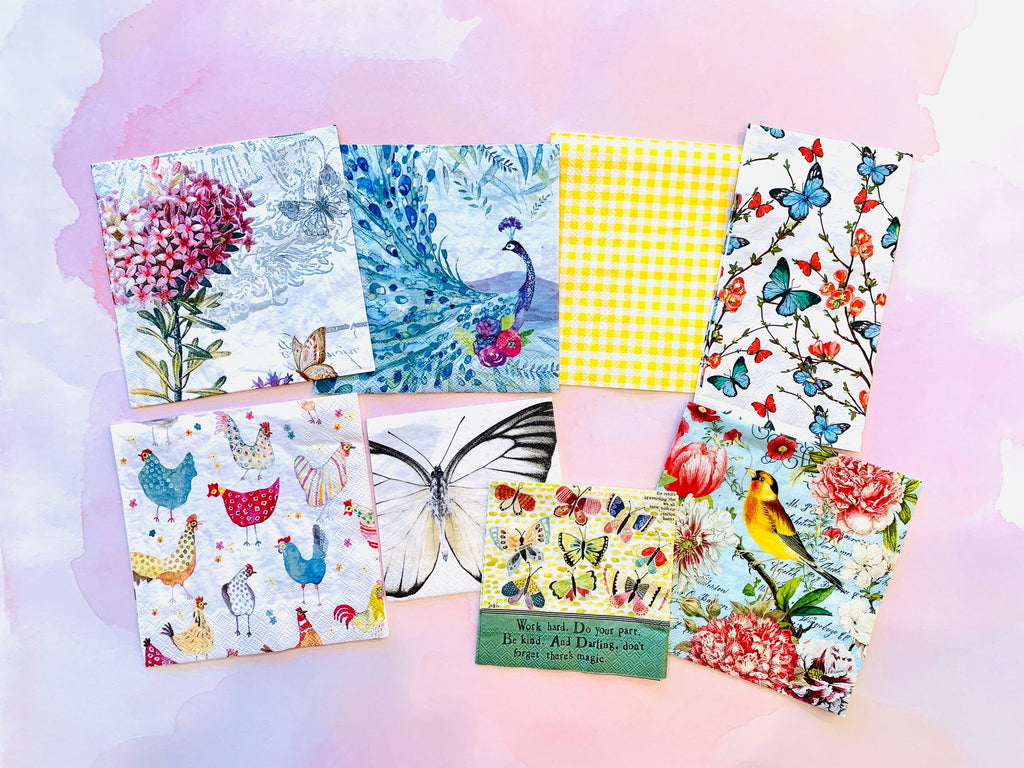 Winged Things Napkin Bundle (set of 8)