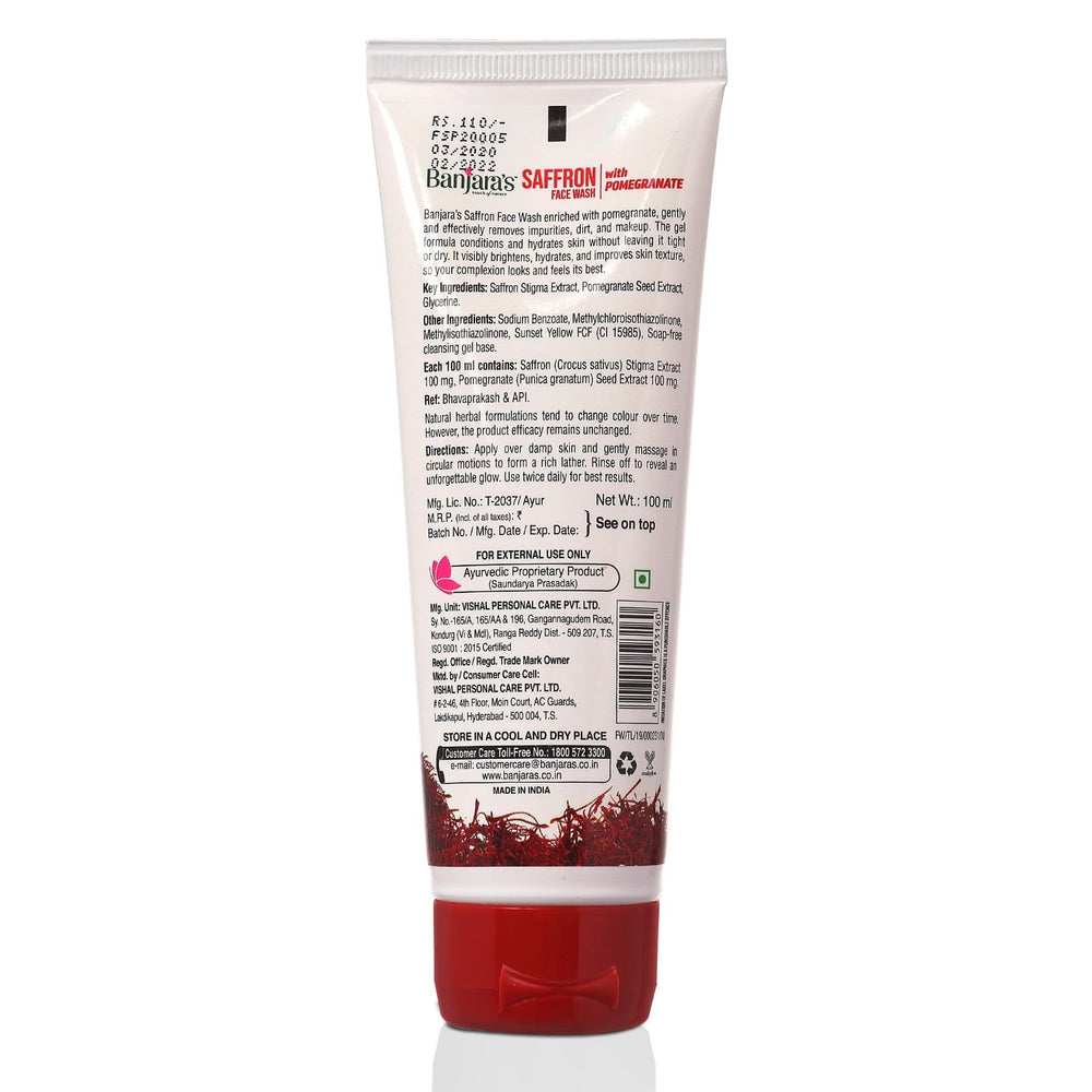 Load image into Gallery viewer, Banjara's Saffron Face Wash with Pomegranate