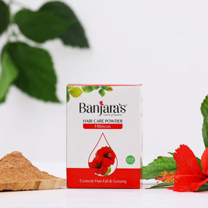 Load image into Gallery viewer, Banjara's Hibiscus Hair Care Powder 100gms (5*20gms)