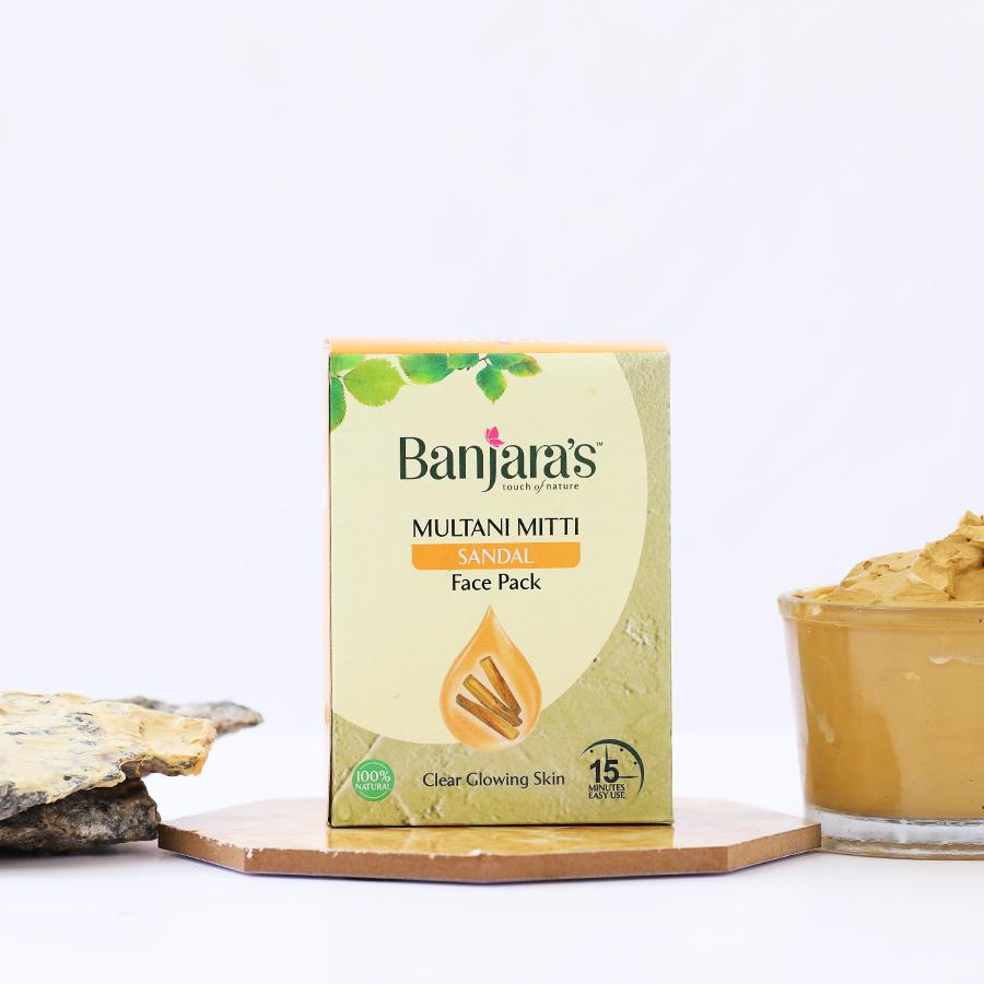 multani mitti facepack with sandal extracts
