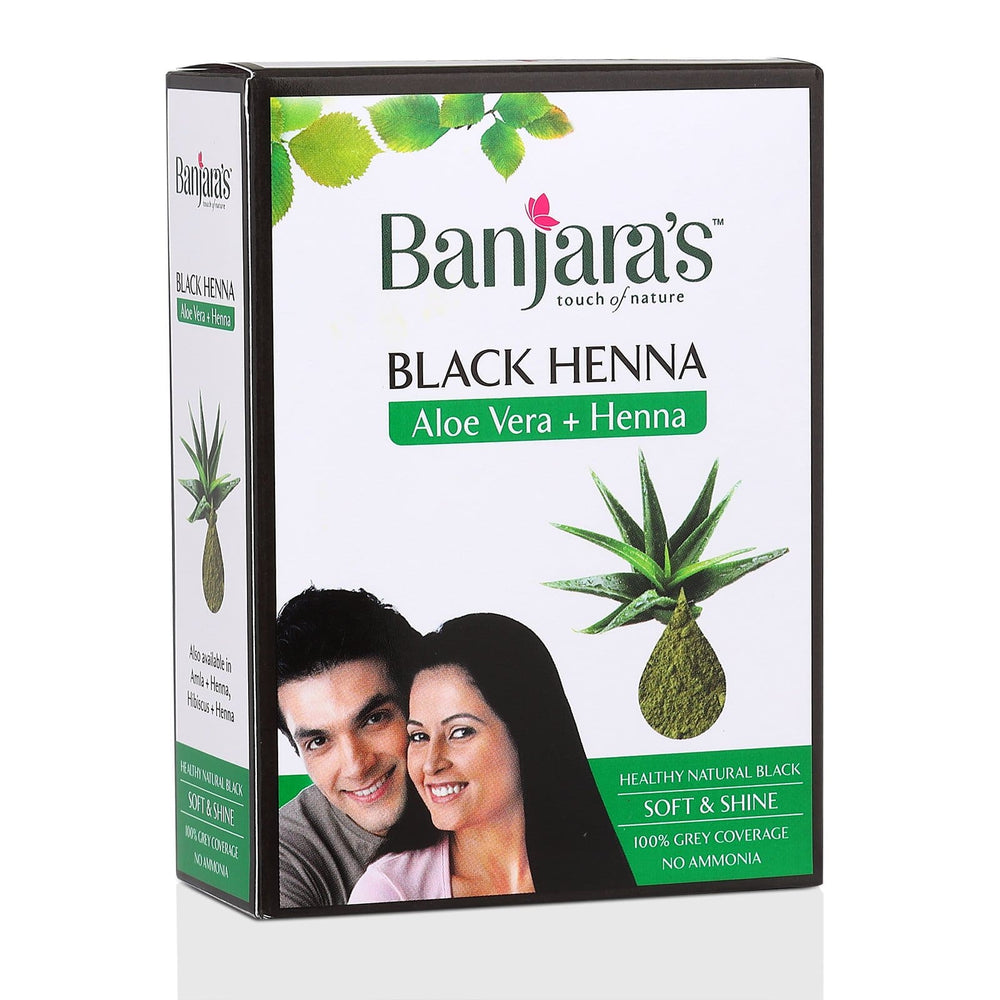 Banjara's black henna with aloe vera