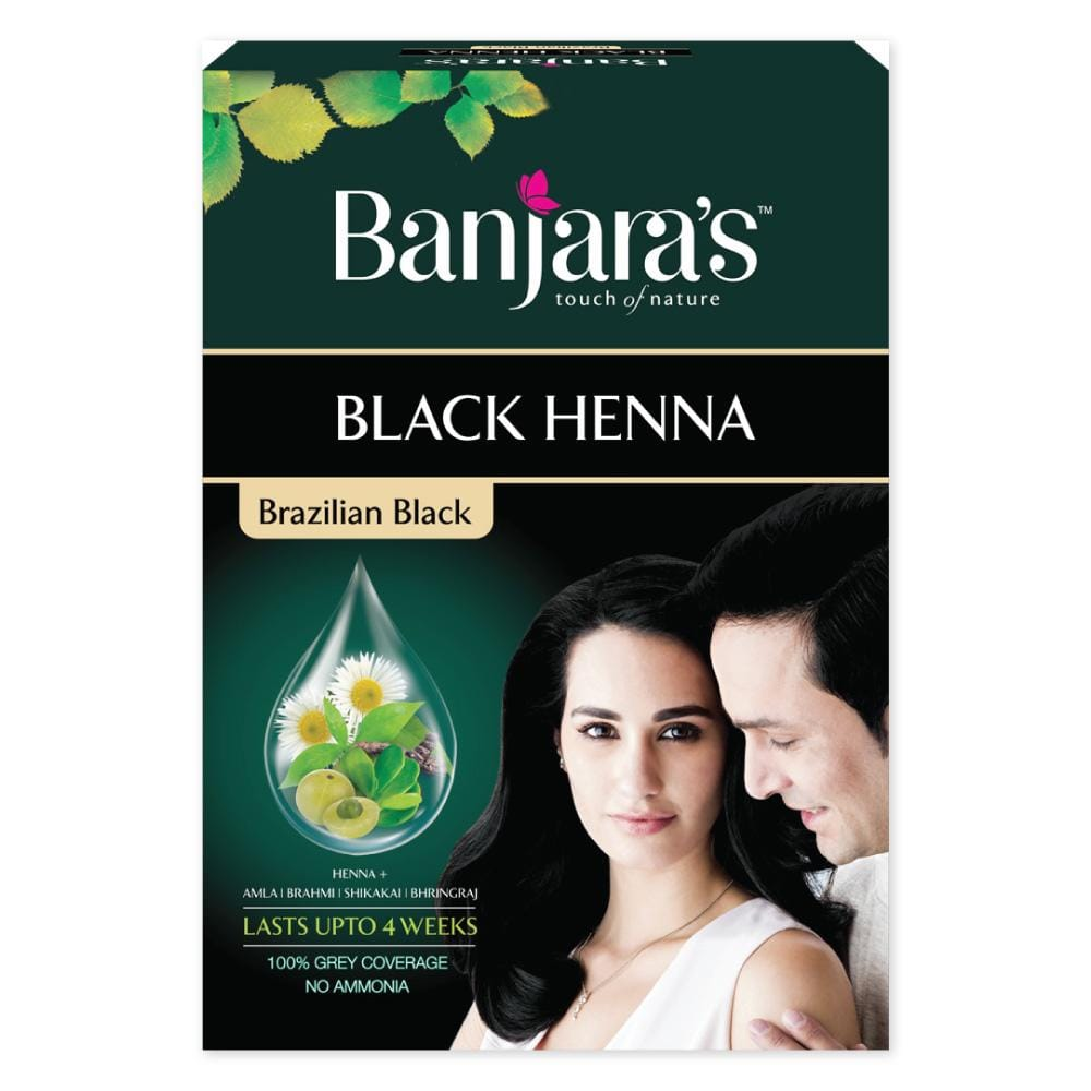 Load image into Gallery viewer, Banjara's Black Henna-Brazilian Black 54gms(6*9gms)
